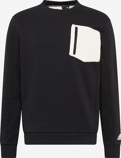 ADIDAS PERFORMANCE Sportsweatshirt in de kleur Zwart / Wit, Productweergave