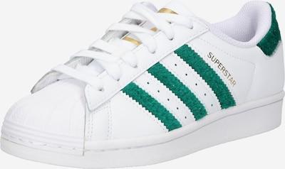 ADIDAS ORIGINALS Sneaker 'SUPERSTAR' in grün / weiß, Produktansicht