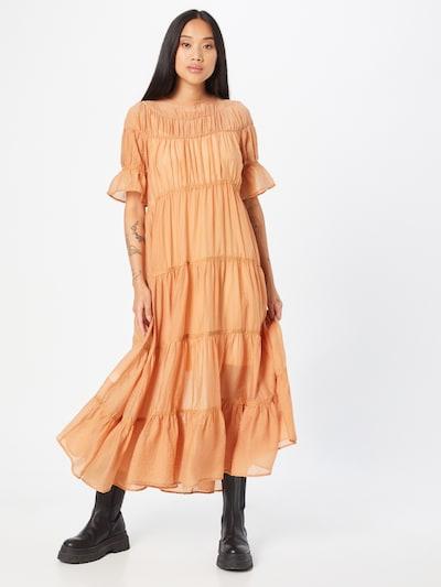 Suknelė 'STELLA' iš AMY LYNN, spalva – šviesiai oranžinė, Modelio vaizdas