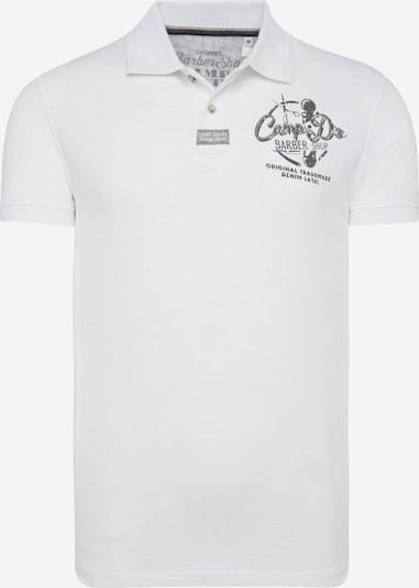 CAMP DAVID Poloshirt in grau / weiß, Produktansicht