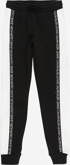 Calvin Klein Jeans Püksid must / valge, Tootevaade