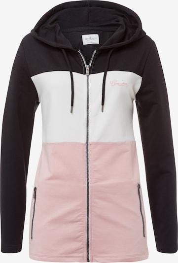 Cross Jeans Sweatjacke in hellpink / schwarz / weiß, Produktansicht