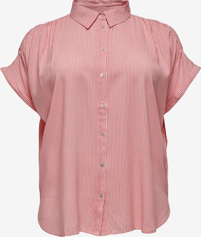 ONLY Carmakoma Blouse 'CARMAROK' in de kleur Pink / Wit, Productweergave