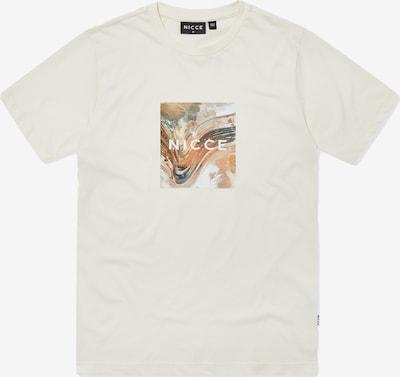 Nicce T-Shirt 'AERIAL BOX ' en beige / écru / gris clair / orange clair, Vue avec produit