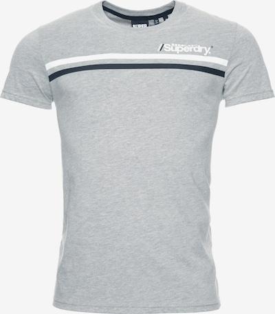 Superdry T-Shirt en gris chiné / noir / blanc, Vue avec produit