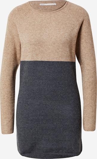 Megzta suknelė iš ONLY, spalva – smėlio / antracito spalva, Prekių apžvalga