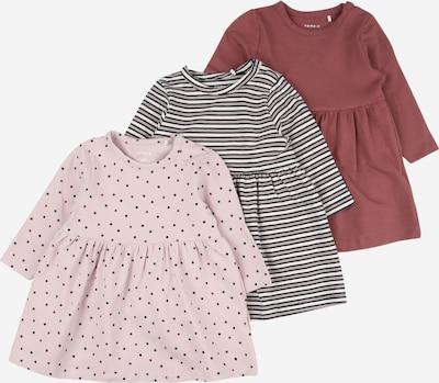 NAME IT Kleid 'RONLA' in pastellpink / pastellrot / schwarz / weiß, Produktansicht