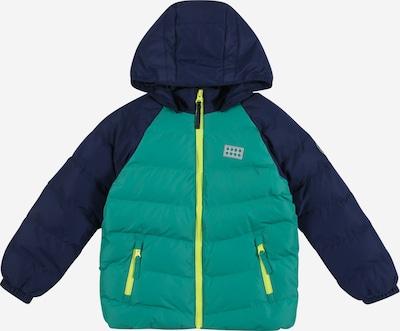 LEGO WEAR Zimska jakna | marine / neonsko rumena / zelena barva, Prikaz izdelka