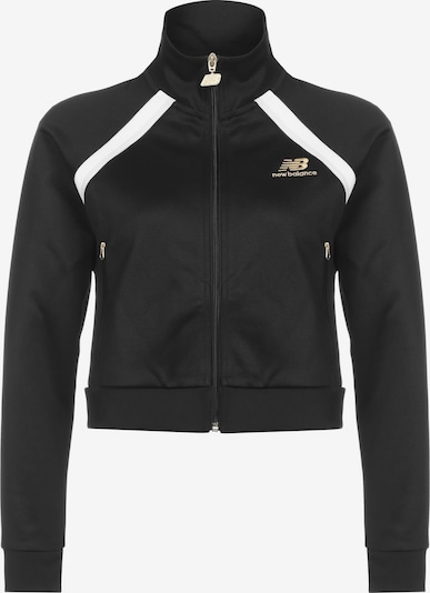 new balance Trainingsjacke in schwarz / weiß, Produktansicht