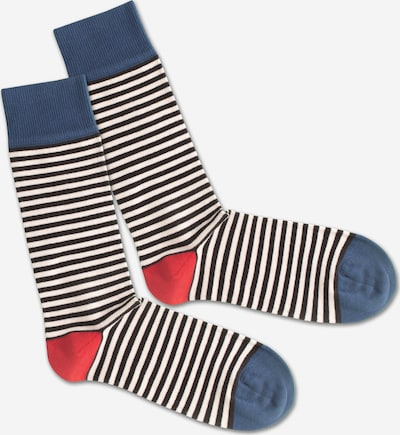 DillySocks Socken 'Basic Liner' in blau / rot / weiß, Produktansicht