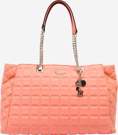 Pirkinių krepšys 'Kamina' iš GUESS, spalva – koralų splava, Prekių apžvalga