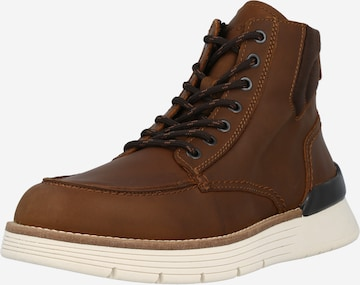 Marc O'Polo Lace-up boot 'Tim 4A' in Brown