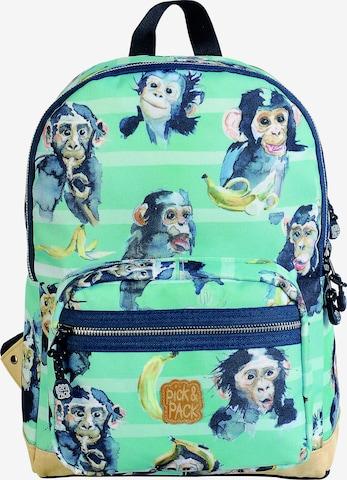 Sac à dos ' Chimpanze ' Pick & Pack en vert