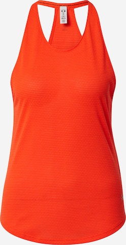 UNDER ARMOUR Sports Top 'Streaker' in Red