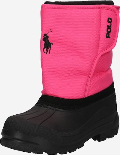 Polo Ralph Lauren Sniega apavi, krāsa - rozā / melns, Preces skats