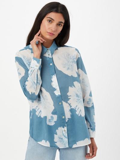 LIEBLINGSSTÜCK Bluse 'Finola' in himmelblau / weiß, Modelansicht