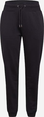 Pantaloni de la Urban Classics Curvy pe negru