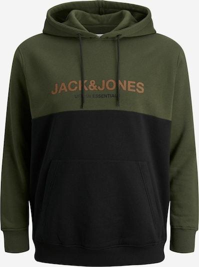 Jack & Jones Plus Sweatshirt in Dark green / Orange / Black, Item view