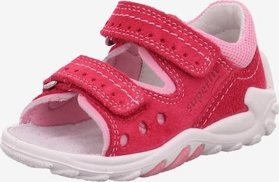 SUPERFIT Sandale 'FLOW' u roza / klasično crvena, Pregled proizvoda