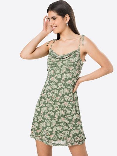 Fashion Union Kleid 'MOSS' in beige / oliv / mint / altrosa, Modelansicht