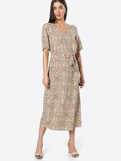 OBJECT Kleid 'AMANDA' in creme / dunkelorange / schwarz, Modelansicht