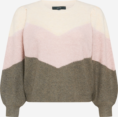 Vero Moda Curve Sweater in Beige / Olive / Pink, Item view
