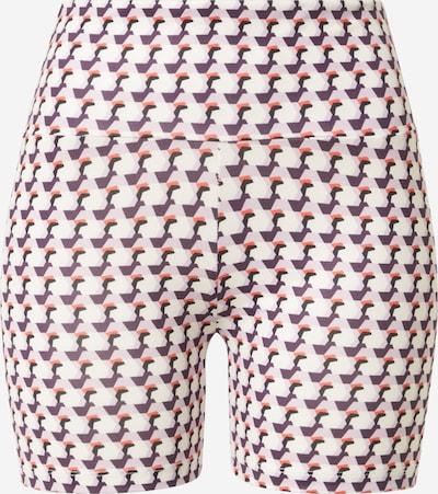 Noisy may Shorts 'PARLA' in aubergine / pastelllila / koralle / schwarz / weiß, Produktansicht