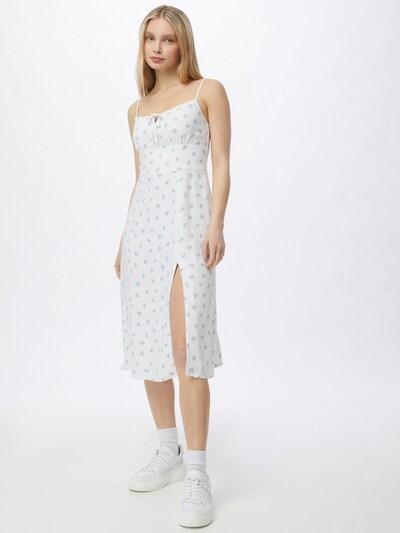 Abercrombie & Fitch Kleid in hellblau / dunkellila / weiß, Modelansicht