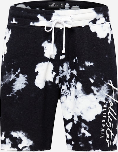 Pantaloni HOLLISTER pe albastru noapte / gri deschis / alb, Vizualizare produs