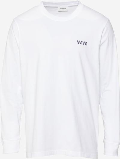 WOOD WOOD Shirt 'Mark Jon Pilkington' in de kleur Blauw / Lila / Sinaasappel / Zwart / Wit, Productweergave