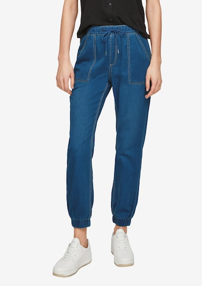 Q/S by s.Oliver Jeans in de kleur Donkerblauw, Modelweergave