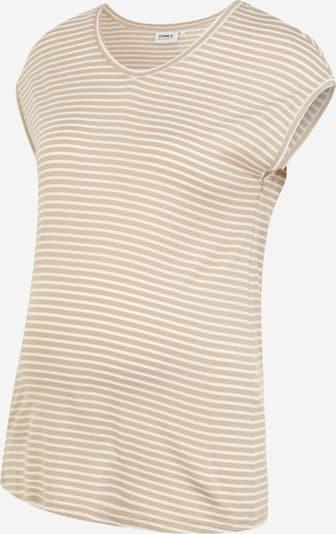 Only Maternity Camiseta 'WILMA' en marrón claro / blanco, Vista del producto