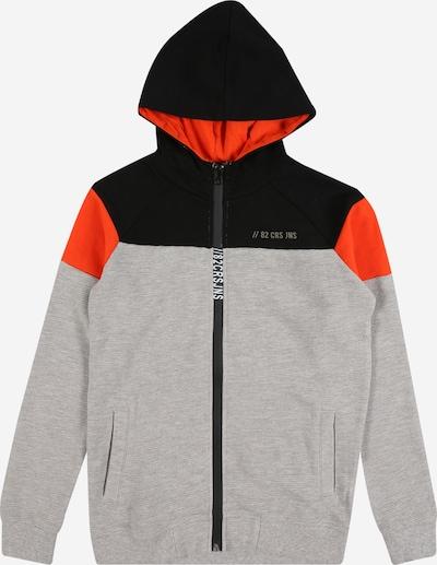 Cars Jeans Sweatshirt 'Trocadero' in graumeliert / orange / schwarz, Produktansicht