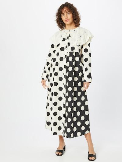Love Copenhagen Kleid 'Dotana' in dunkelblau / weiß, Modelansicht