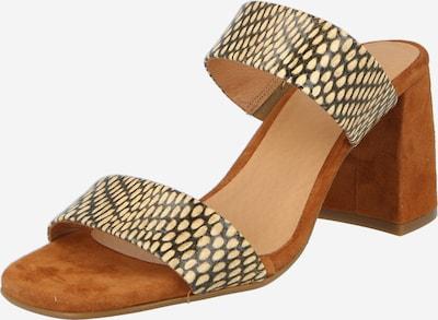 Shoe The Bear Sandaalit 'CAREN' värissä beige / säämiskänkeltainen / musta: Näkymä edestä