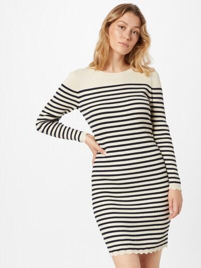 Rochie tricotat 'Gabbi' VILA pe crem / bleumarin, Vizualizare model