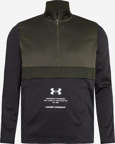 UNDER ARMOUR Sportsweatshirt 'AF Storm' in khaki / schwarz, Produktansicht