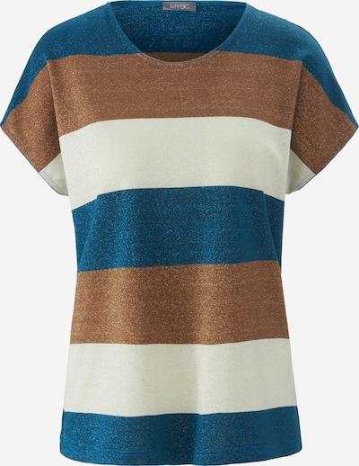 MYBC Shirt in de kleur Bruin / Petrol / Wolwit, Productweergave