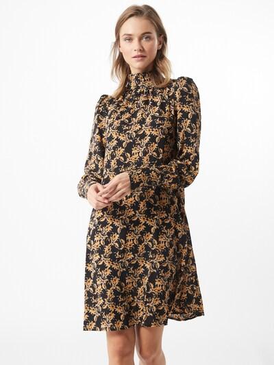 ICHI Kleid 'Viola' in gold / schwarz, Modelansicht