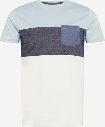INDICODE JEANS T-Shirt 'Clemens' in taubenblau / blue denim / hellblau / weiß, Produktansicht