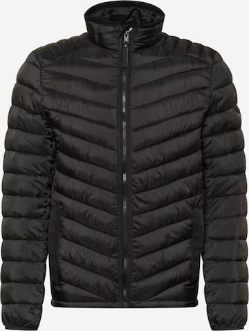 TOM TAILOR Φθινοπωρινό και ανοιξιάτικο μπουφάν σε μαύρο