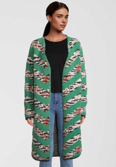 DELICATELOVE Strickmantel 'ANNA JAGS' in grün, Modelansicht