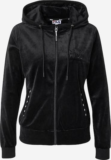 FILA Sportief sweatvest 'Kim' in de kleur Zwart / Wit, Productweergave