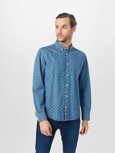 TOM TAILOR Hemd in blue denim / hellblau: Frontalansicht