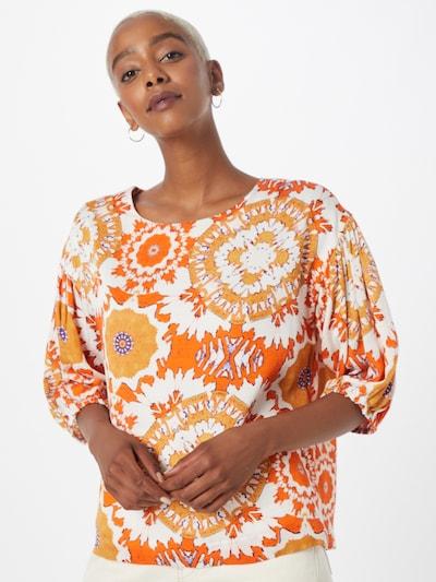 Derhy Bluse 'BOULEVARD' in blau / goldgelb / orange / weiß, Modelansicht
