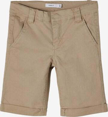 Pantaloni 'SOFUS' de la NAME IT pe bej