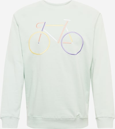 DEDICATED. Sweatshirt in mint / helllila / orange / rosa / weiß, Produktansicht