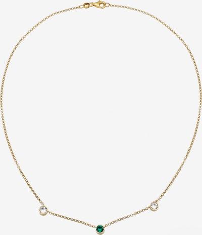 ELLI Halskette Kristall Kette, Solitär-Kette in gold / grün, Produktansicht