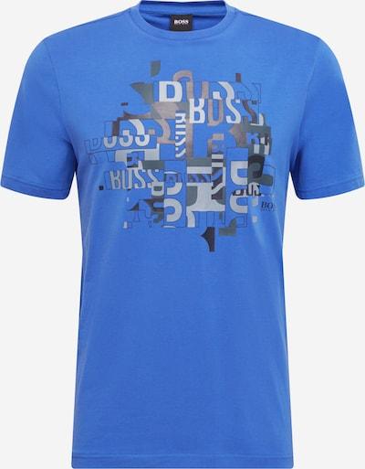 BOSS ATHLEISURE Тениска в небесносиньо / базалтово синьо / камък, Преглед на продукта