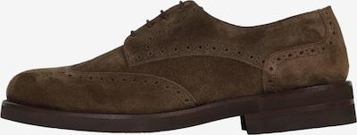 Pantofi cu șireturi Scalpers pe castaniu, Vizualizare produs